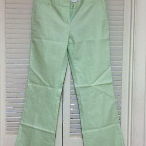 J. Crew Pants - J.Crew Low Fit Pastel Green Pants